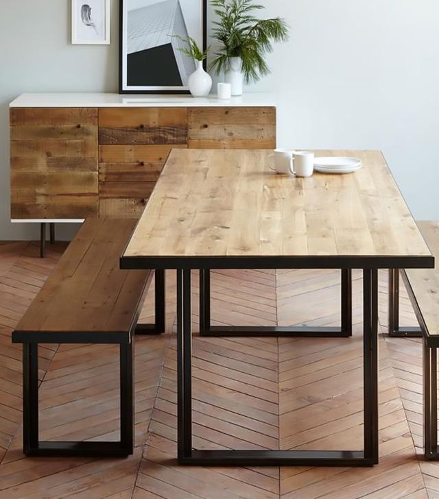 West Elm Industrial Oak + Steel Dining Table