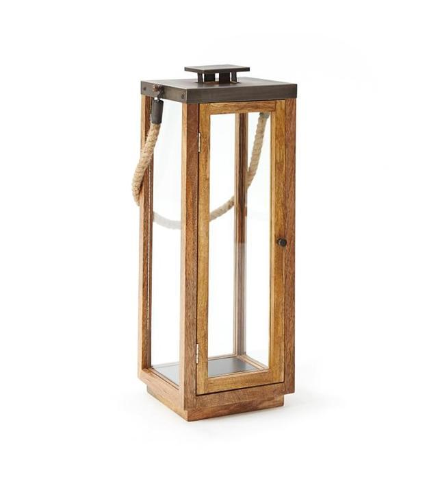 West Elm Wood + Rope Lantern