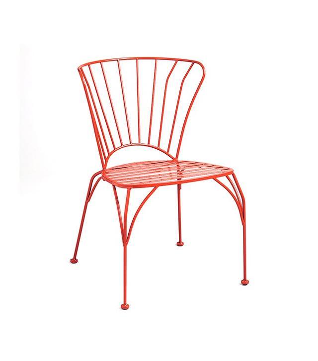 World Market Poinciana Orange Metal Cadiz Set of 2 Chairs
