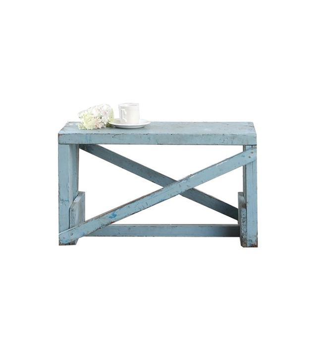 Shabby Chic Vintage Blue Bench