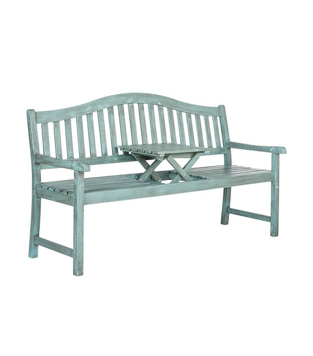 "One Kings Lane Outdoor Olivia 63"" Bench With Table"