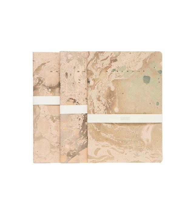 Arminho Gold Marbled Trio Notebooks