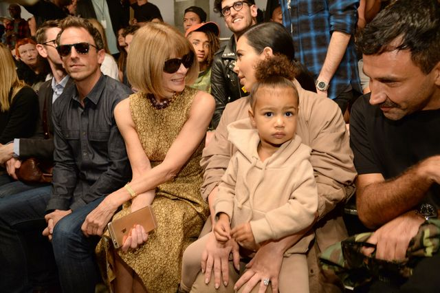 When she sat front row at a fashion show