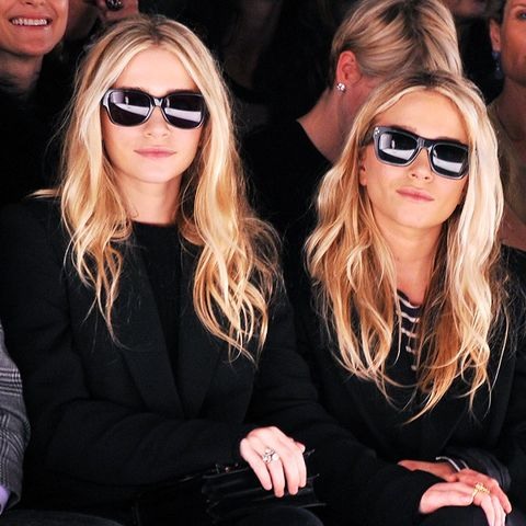 Olsen Twin Style: Sunglasses indoors are appropriate if your friend is wearing them too.
