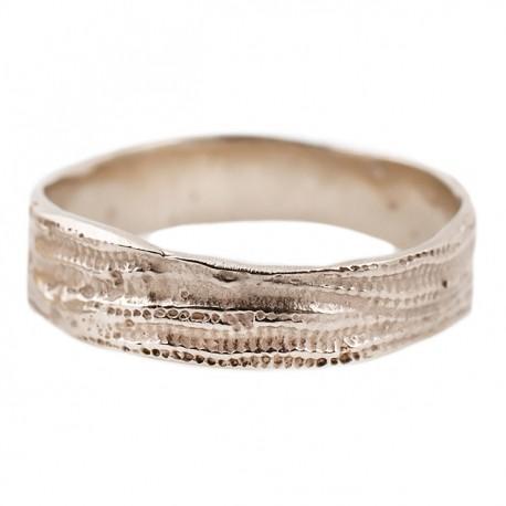 Esqueleto White Gold Double Ring