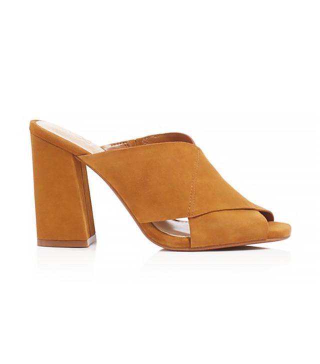 Vince Camuto Jevan Suede Slide High Heel Sandals