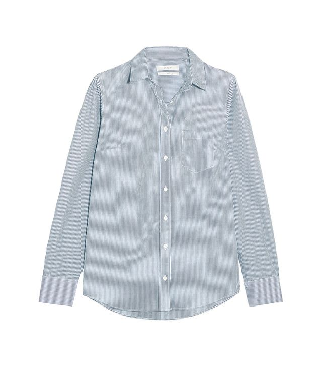 J.Crew Boy Striped Cotton-Poplin Shirt