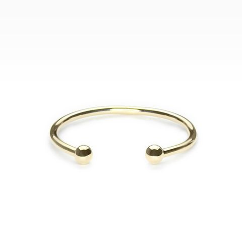 Dot Cuff Ring in 14k Yellow Gold