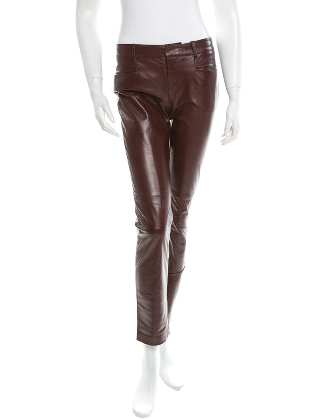 Rag & Bone Burgundy Leather Pants
