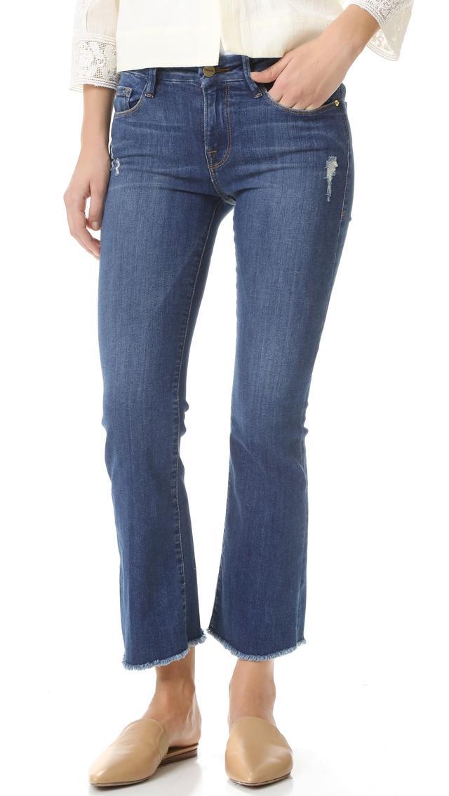 Frame Le Cropped Mini Blue Jeans