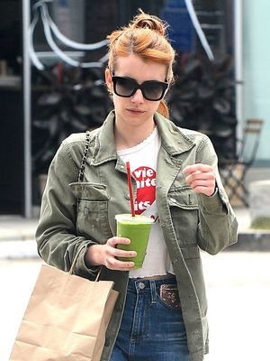 2 Cute Ways to Wear a Graphic Tee, Courtesy of Emma Roberts