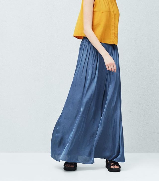 Mango Satin Long Skirt