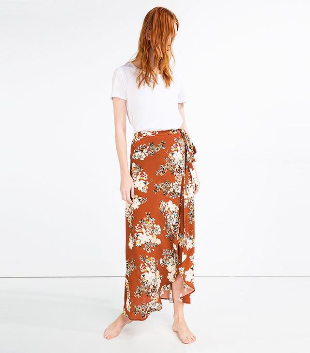 Zara Long Wrap Skirt