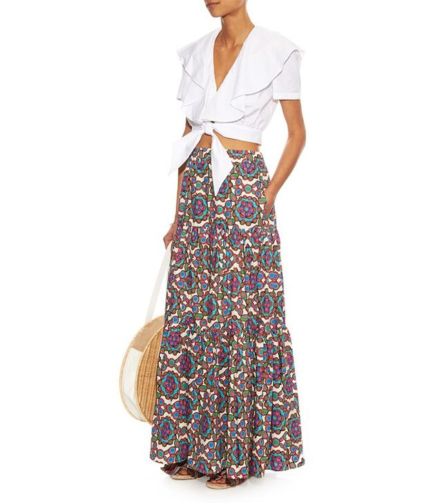 La DoubleJ Editions The Kaleidoscope-Print Big Skirt