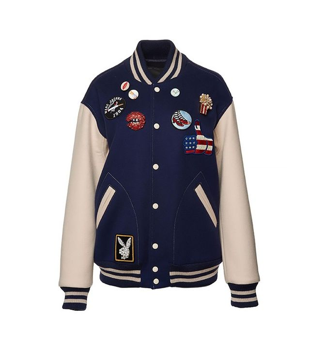 Marc Jacobs Oversized Felt Varsity Jacket