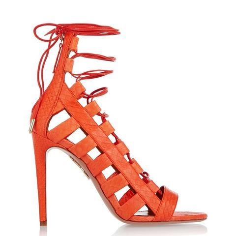 Amazon Lace-Up Elaphe Sandals
