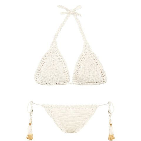 Essential Sliding Crochet Triangle Bikini Top and Briefs