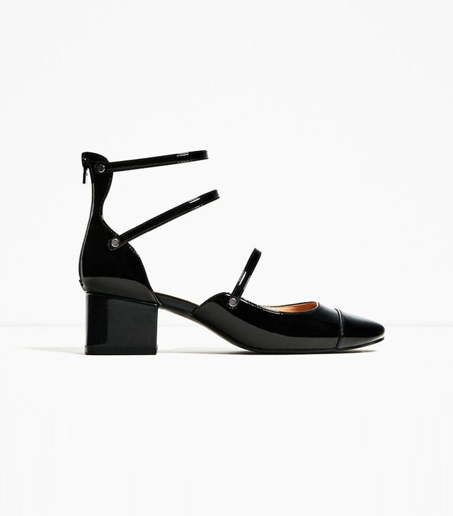 Zara Mid Heel Shoes With Straps