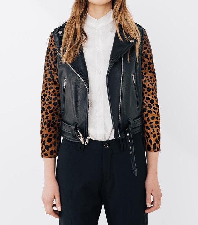 Laer Shrunken Cheetah Crop Sleeve