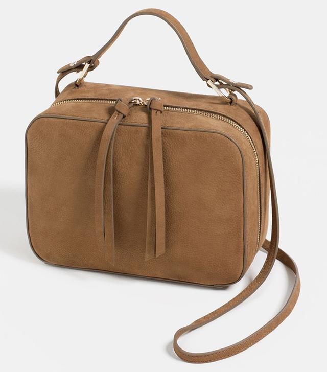 Zara Nubuck Crossbody Bag