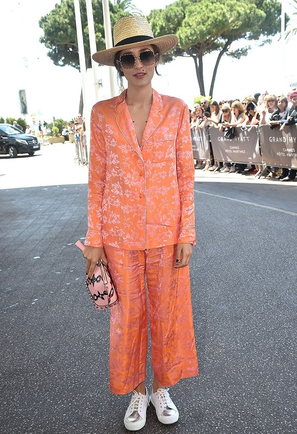 Style Notes: Eleonora Carisi's pajama trouser suit is a way to tick off the boudoir trend at the same time—and it's so comfortable.