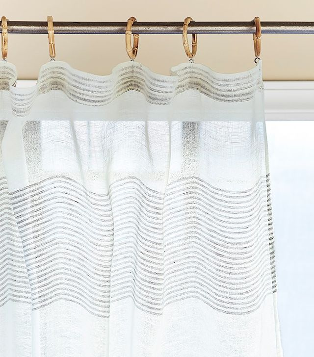 Serena & Lily Pinstriped Sheer Window Panel
