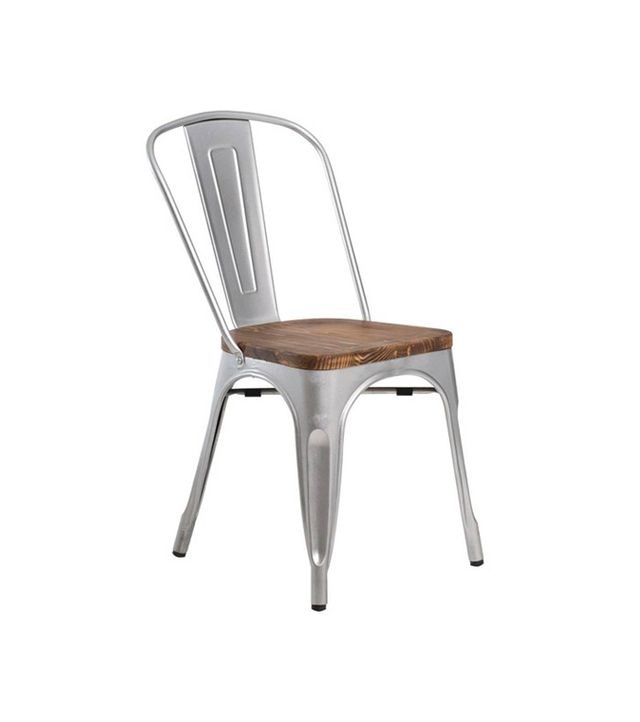 Aeon Garvin Galvanized Seat Chair, Set of Two