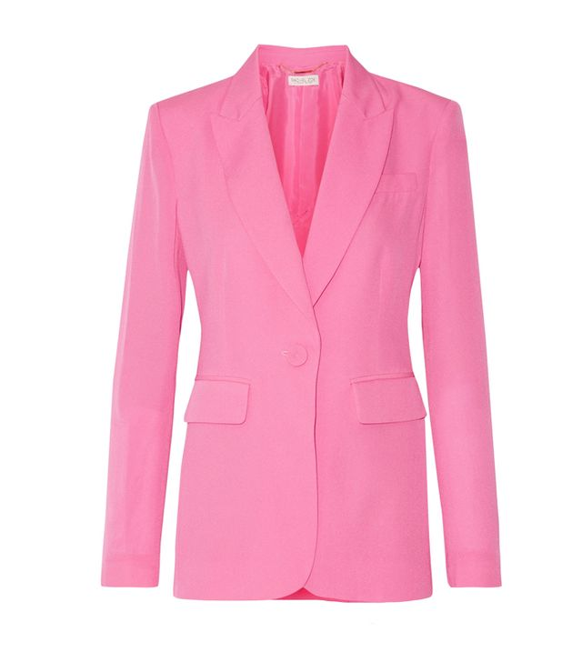 How to get ready fast in the morning: Rachel Zoe Aero Silk Crepe de Chine Blazer