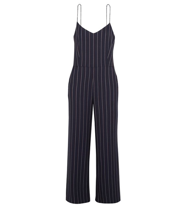 How to get ready fast in the morning: Ganni Oakwood Striped Twill Jumpsuit