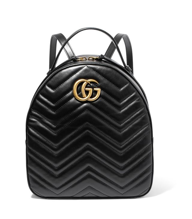 How to get ready fast in the morning: Gucci GG Marmont 2.0 Medium Embellished Quilted Leather Shoulder Bag