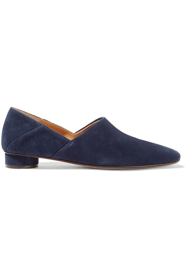The Row Noelle Suede Loafers