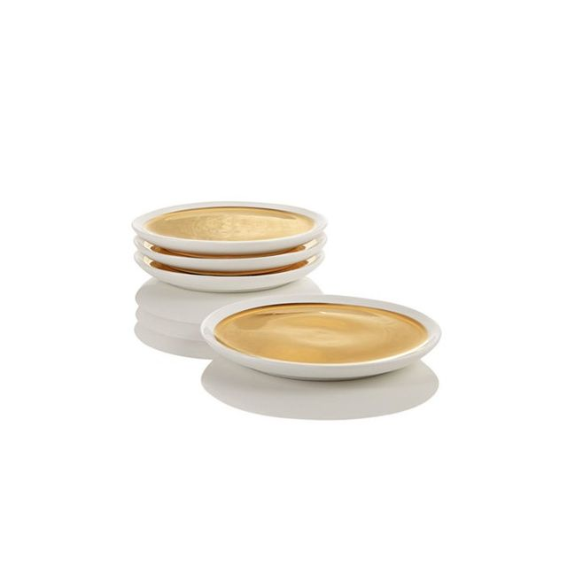 Hotel Collection Set of 4 Goldtone Coasters
