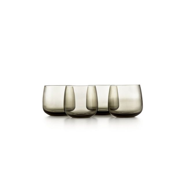 Hotel Collection Modern Stemless Wine Glasses, Set of 4