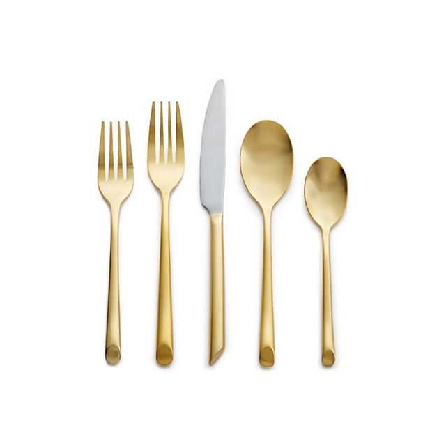Hotel Collection 18/0 Stainless Steel with Goldtone Finish 20-Piece Service for 4 Flatware Set
