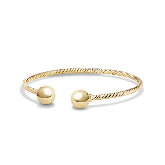 David Yurman Solari Bead Bracelet in 18K Gold with 18K Gold Dome