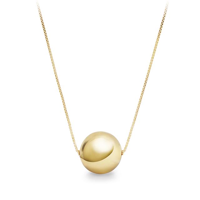 David Yurman Solari Pendant Necklace in 18K Gold with 18K Gold Bead