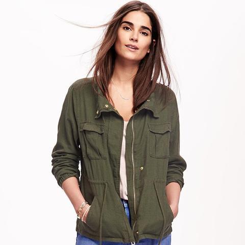 Linen-Brand Field Jacket