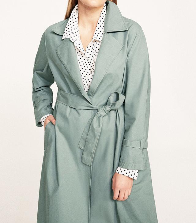 Violeta by Mango Classic Cotton Trench Coat