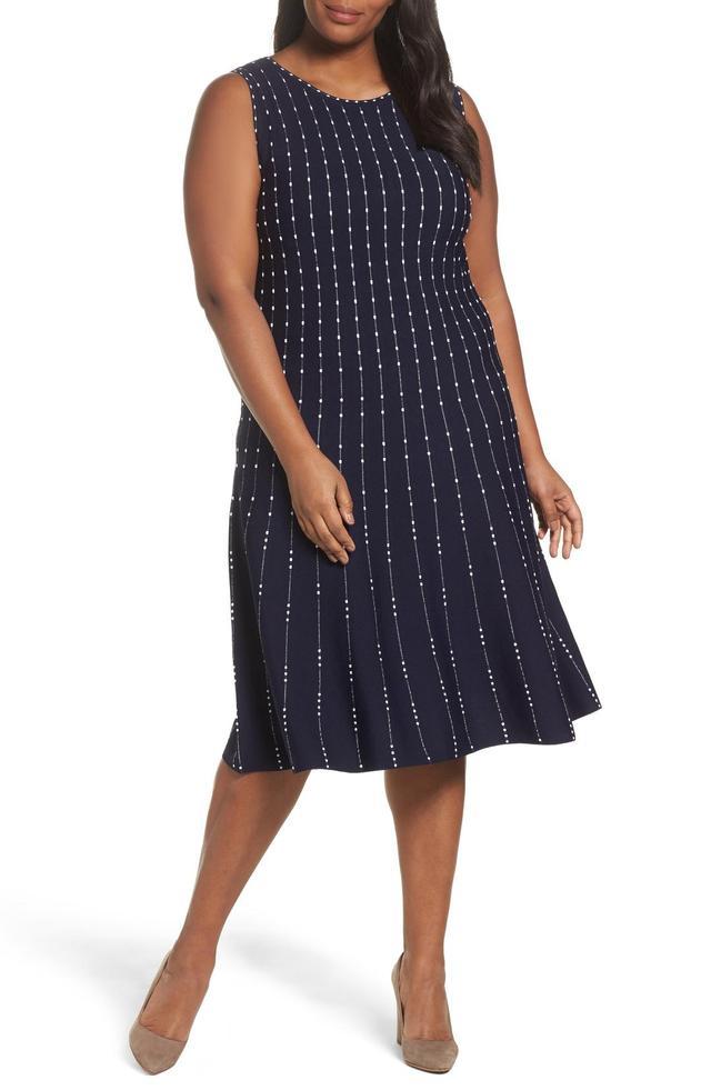 Plus Size Women's Nic+Zoe Iceland Twirl Dress