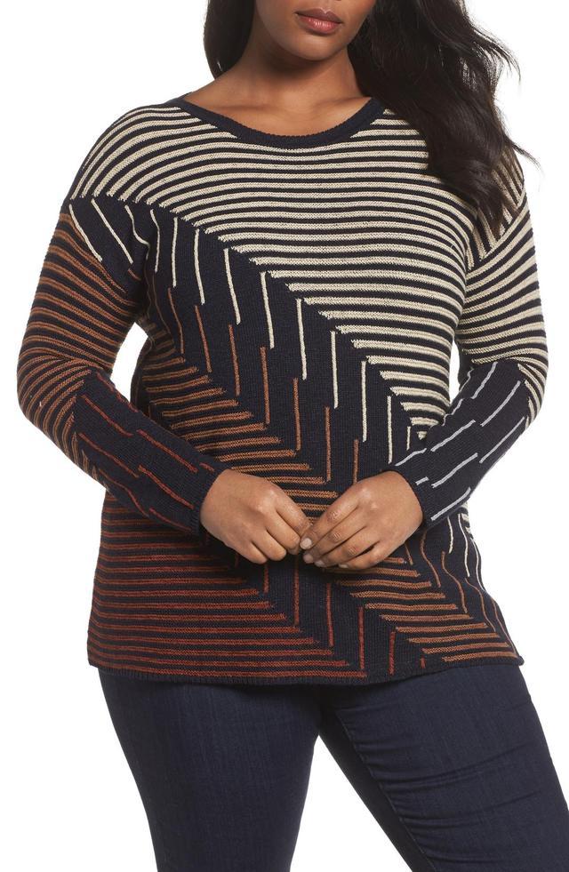 Plus Size Women's Nic+Zoe Lagoon Sweater
