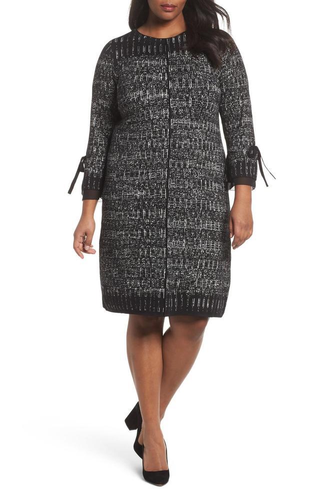 Plus Size Women's Nic+Zoe Ruffle Cuff Sweater Dress