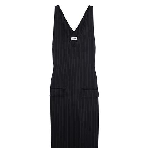 Pin Striped Satin Dress