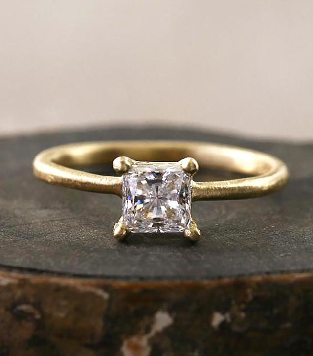 Yasuko Azuma Princess Cut Diamond Ring