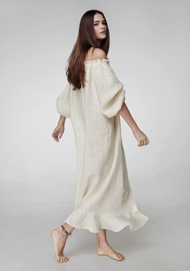 Sleeper Baked Milk Loungewear Dress