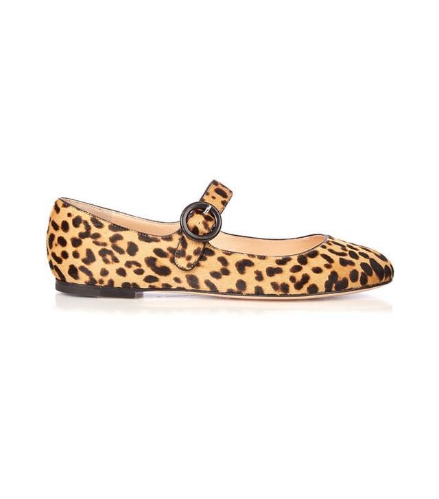 Gianvito Rossi Lorraine Leopard-Print Calf-Hair Pumps