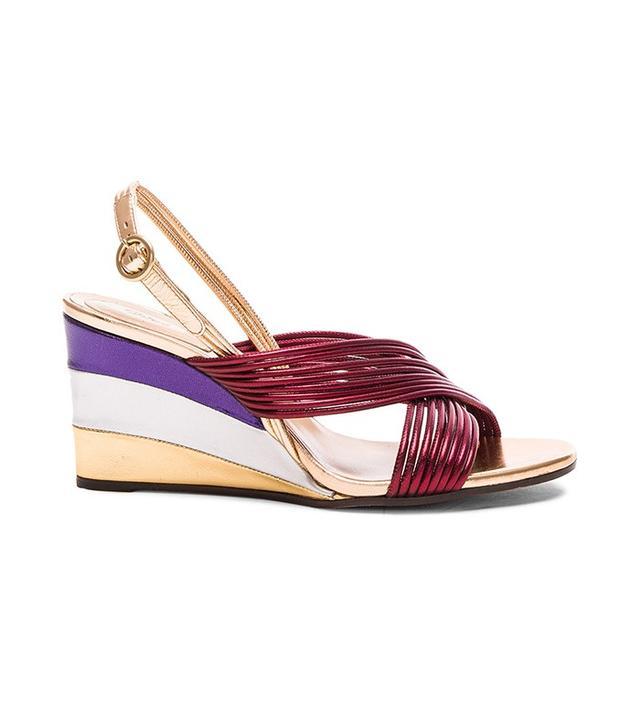 Chloé Leather Rainbow Sandals