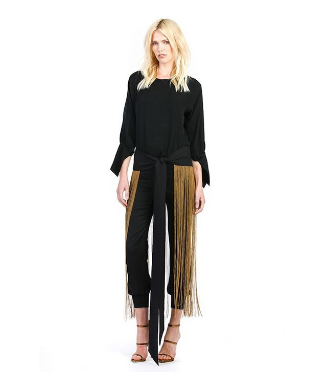 Haney The Jasmine Chain Fringe Wrap Skirt