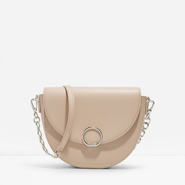 Charles & Keith Circular Buckle Saddle Bag