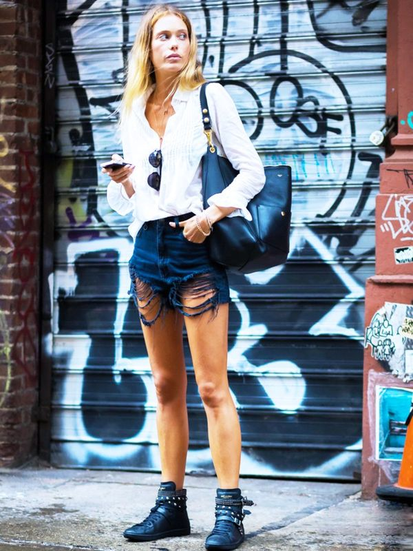 How to Wear Flat Shoes:  flat ankle boots