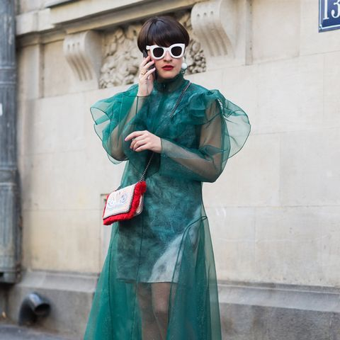 How to Wear Flat Shoes: Trainers and tulle dresses